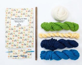 Kid's Weaving Kit for Weaving Wall Art - Blue Weaving