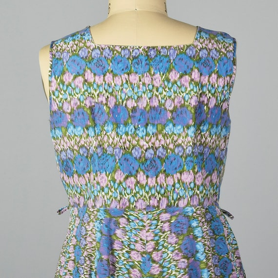 Casual 1950s Abstract Vintage Sleeveless Day Print 50s Lightweight Dress Spring Floral Easter Summer Dress Wear XL fqw7dS7