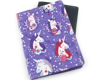 Purple Unicorn Heads Passport Holder, Passport Cover, Passport Wallet, Passport Case, Travel Gift