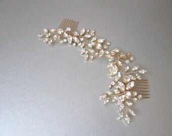 Swarovski crystal bridal hair vine, Bridal hair comb, Wedding hair comb, Swarovski bridal comb, Sparkly bridal headpiece, Wedding hair vine
