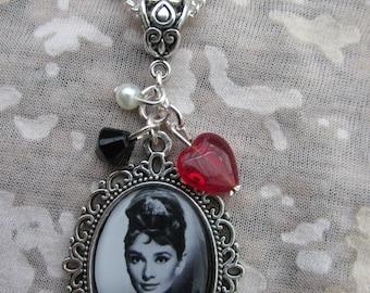 Audrey Hepburn Picture Necklace