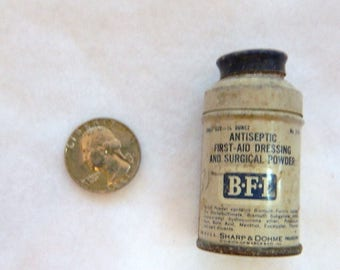 Vintage B.F.I. Antiseptic First-Aid Small Old Can Very Rare SHARP & DOHME NICE