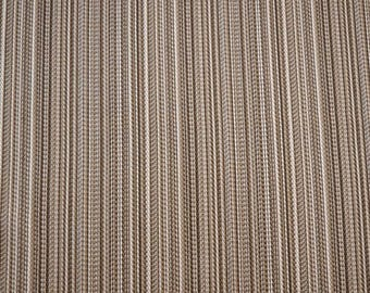 Brown Stripe Fabric REMNANT 55 inches x 4.375 yards