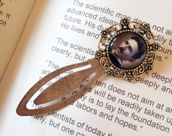 Nikola Tesla Bookmark - Tesla Alternating Current Gift, Science Bookmark, Gift for Scientist, Electrical Engineer Gift, Gift for Inventor