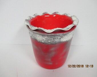 Stoneware Red Dip Chiller