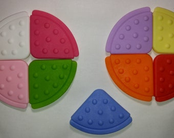 Triangle Teething Corners, Food Grade EVA Non-Silicone Sew In Teethers for Bibs, Blankets and Toys
