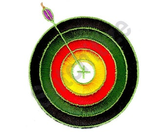Archery Bullseye - Machine Embroidery Design, Archery, Arrow, Bullseye, Target