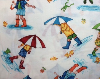 Timeless Treasures PUDDLE JUMPERS 100% Cotton Premium Quality Fabric for Quilting - by 1/2 yard