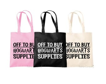 Harry Potter Bag Harry Potter Quote Hogwarts Quote Bag Diagon Alley Bag Shopping Tote Shopping Bag Pink Bag Black Bag Shopping Bag