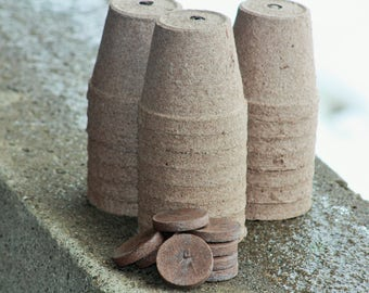 3 Inch Biodegradable Pots, Peat Pots, Biodegradable Plant Pots, Seedling Pots, Gardening Pots, Three Inch Pots, Biodegradable pots