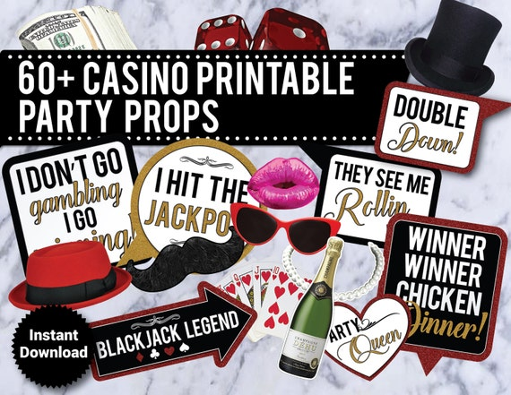 free printable casino photo booth props