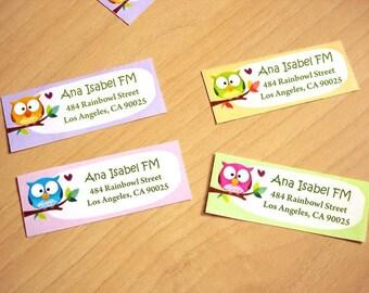 Personnalisés à l'adresse de retour étiquettes - Rainbowls-Set de 28
