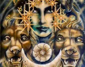 "A4 ""Goddess Ishtar"" Print"