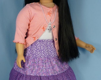 Peasant Skirt and petticoat pattern to fit My Twinn 23 in poseable dolls