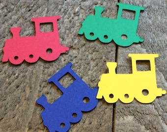 Train Table Confetti / Locomotive Theme Party Decor Decoration Table Scatter Scrapbook Embellishments Centerpiece C125