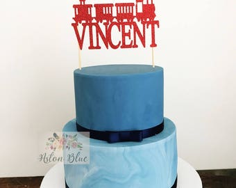 Train Cake Topper or Cupcake Topper- Train Cake/Train Party/Tank Engine/Train Birthday/Trains Cake Topper/Train/Train Topper/ Train Cake