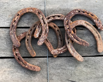 10 Old Horseshoes, Lucky Horseshoe, Rustic Decor, Barn Decor, Rusty Horseshoes, Rustic Western decor, DIY projects