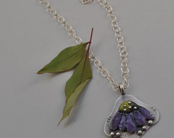 Torch Fired Coneflower Necklace