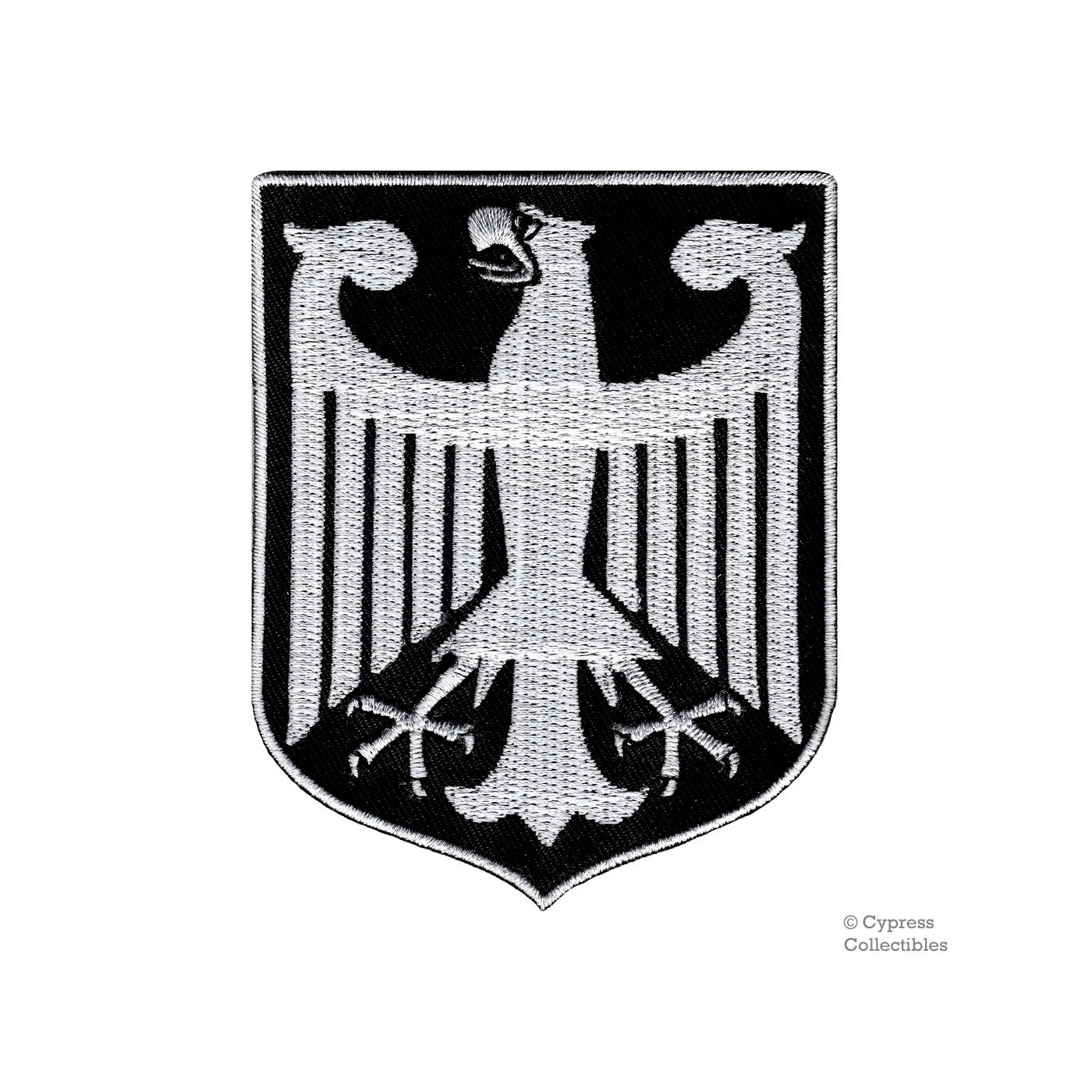 Black germany coat of arms patch iron on embroidered applique zoom buycottarizona Gallery
