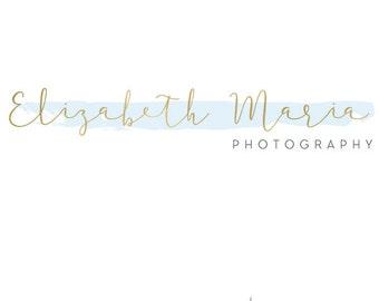 Gold Logo, Gold Branding, Brand Set for Creative Business, Fashion Logo, Signature Logo, Photography Logo