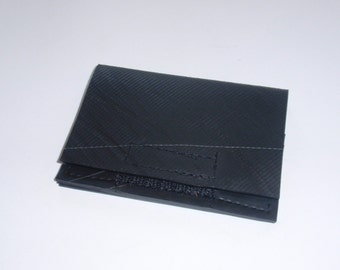 Recycled Rubber Mini Wallet with Hook and Loop Closure