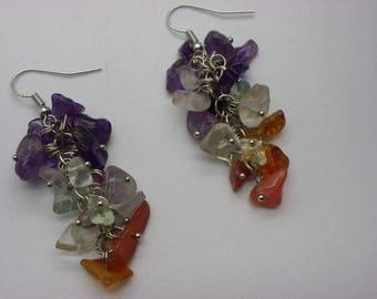 Earrings stones gemstone ships