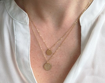 Simple Gold necklace, dainty necklace, graduation gift, gifts for her, birthday gift, gold necklace, dainty layering necklace