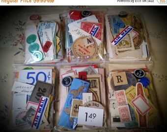 "ON SALE Vintage Ephemera Pack The 3 x 4"" Vegas Buffet 50 Piece"