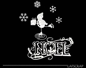 Cuts scrapbooking snowman snow Word Christmas Holly snowflake embellishment die cut scrap album deco