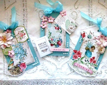 Shabby Chic Romantic Gift Tags - Set of 3