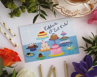 Eat Cake Card - Happy Birthday - Greeting Card