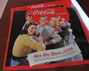 Coca-Cola calendar - Pouch - year 2004 - retro Images from the 1940-50