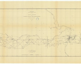 Geodetic Connection - Atlantic and Pacific Coast Triangulations 1879