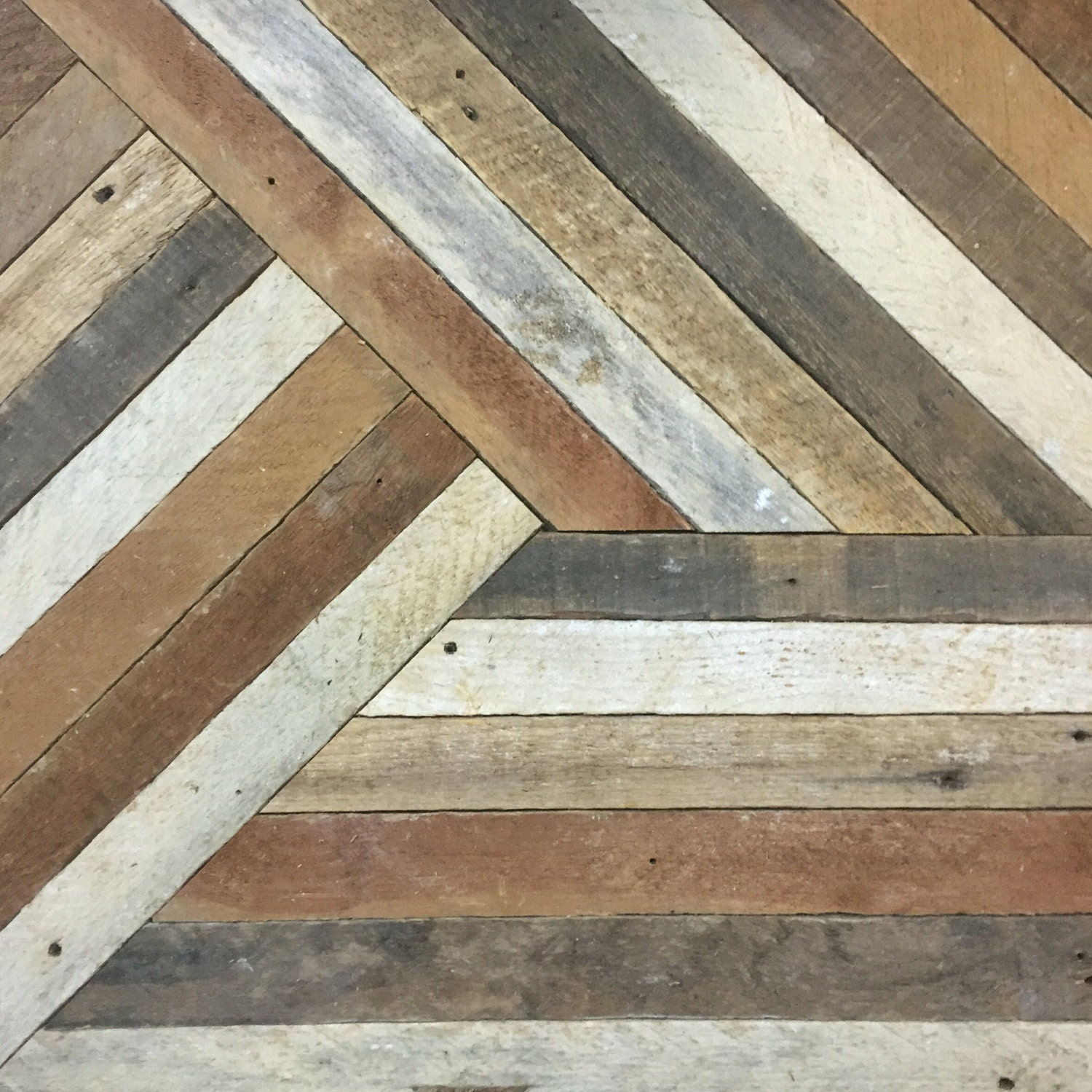 Reclaimed wood wall art decor lath pattern geometric for Lumber calculator for walls
