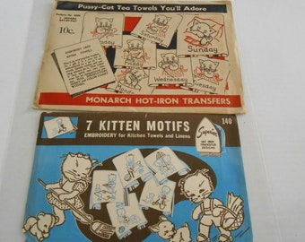 Cats and Kittens embroidery transfers Monarch Superior unused