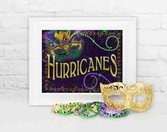 Mardi Gras Party Decoration, Mardi Gras Hurricanes Party Decor, Mardi Gras Hurricane Sign, Mardi Gras party Decor, Party Decorations