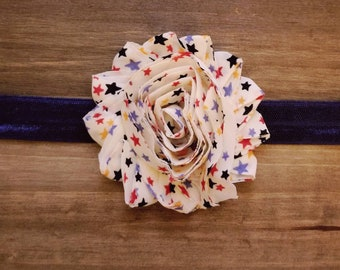 Patriotic headband, red white and blue, 4th of july headband, baby headband, adult headband, girls headband, star headband, America