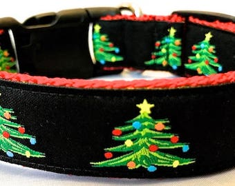 PREPPY Christmas Tree  Dog Collar - Leash Sold Separately