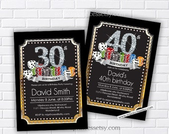 Casino party birthday invitation gambling adult game casino party birthday invitation gambling adult game casino night poker birthday filmwisefo