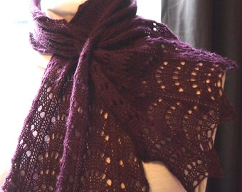Scarf knitting pattern  Feather Lace