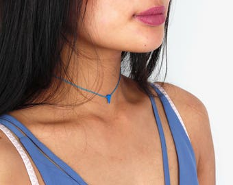 Horn Turquoise Choker - TinyLittlePiecesShop