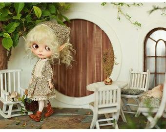 Miss yo 2017 Brown Flora Dress Set for Blythe doll