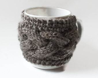 Mug Warmer Knitting Pattern cozy  cup warmer pdf file
