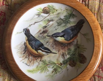 WWF Songbirds of Europe  by Ursula Band -  Nuthatch display plate 1986