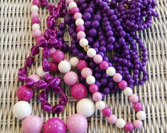 Vintage Shades of Purple Necklace Collection