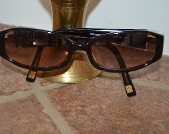 Free shipping!  Saks Fifth Avenue smoke 90's with Rhinestone sunglasses