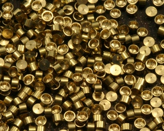 2 mm finding Setting 950 pcs raw brass 1541