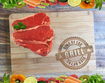 King of the Grill - Personalised Engraved Bamboo Chopping Board