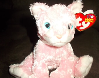 TY Beanie Babies Carnation the Cat/ Free Shipping
