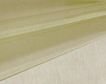 Light Olive Organza Fabric by the Yard, Wedding Decoration Organza Fabric, Sheer Fabric - Style 1901
